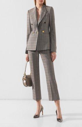 Женская кожаные туфли SANTONI серебряного цвета, арт. WDNT57627HI2RIPUD75 | Фото 2