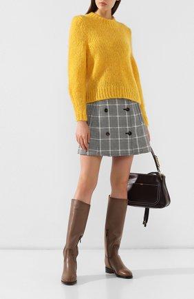 Женские кожаные сапоги SANTONI коричневого цвета, арт. WSEH54248BJ2CDS0M18 | Фото 2