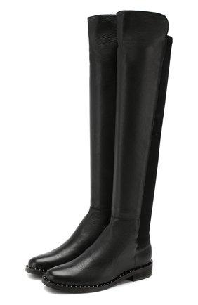 Женские кожаные сапоги PERTINI черного цвета, арт. 192W14218D8   Фото 1