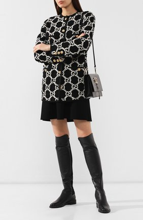 Женские кожаные сапоги PERTINI черного цвета, арт. 192W14218D8   Фото 2