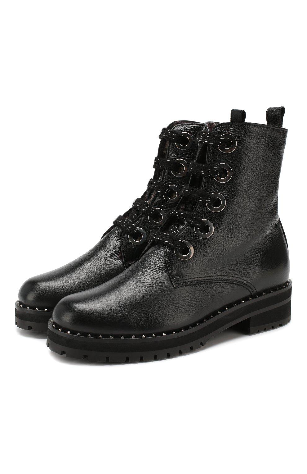 Женские кожаные ботинки PERTINI черного цвета, арт. 192W16199C1 | Фото 1