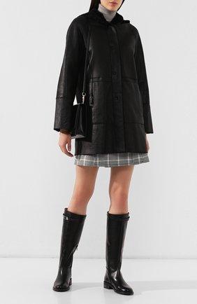 Женские кожаные сапоги PERTINI черного цвета, арт. 192W16207D3   Фото 2