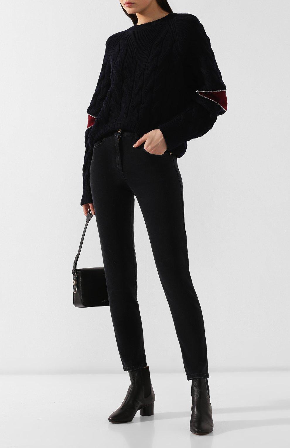 Женские кожаные ботильоны danae ISABEL MARANT черного цвета, арт. DANAE/B00069-19A025S | Фото 2