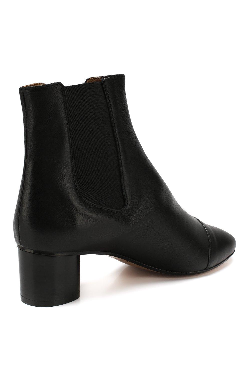 Женские кожаные ботильоны danae ISABEL MARANT черного цвета, арт. DANAE/B00069-19A025S | Фото 4