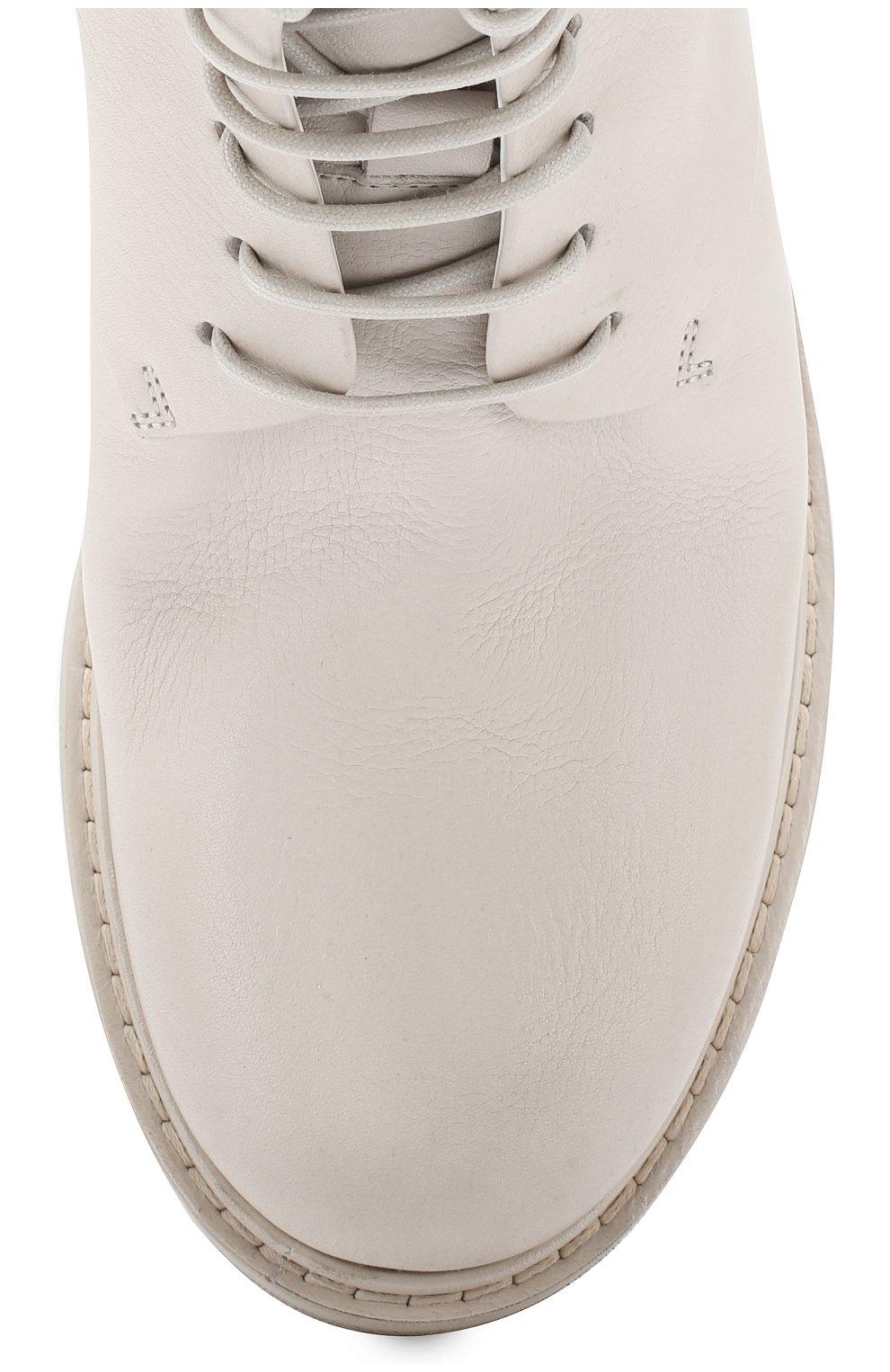 Женские кожаные ботинки MARSELL кремвого цвета, арт. MW2952/VIT.FI0RE V0L. | Фото 5