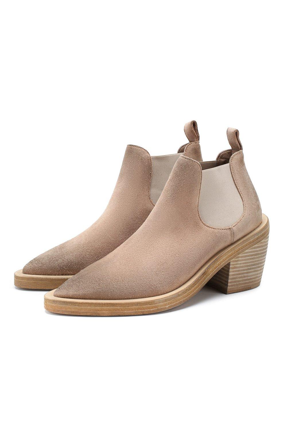 Женские замшевые ботинки MARSELL бежевого цвета, арт. MW5494/CERV0 R0V. | Фото 1