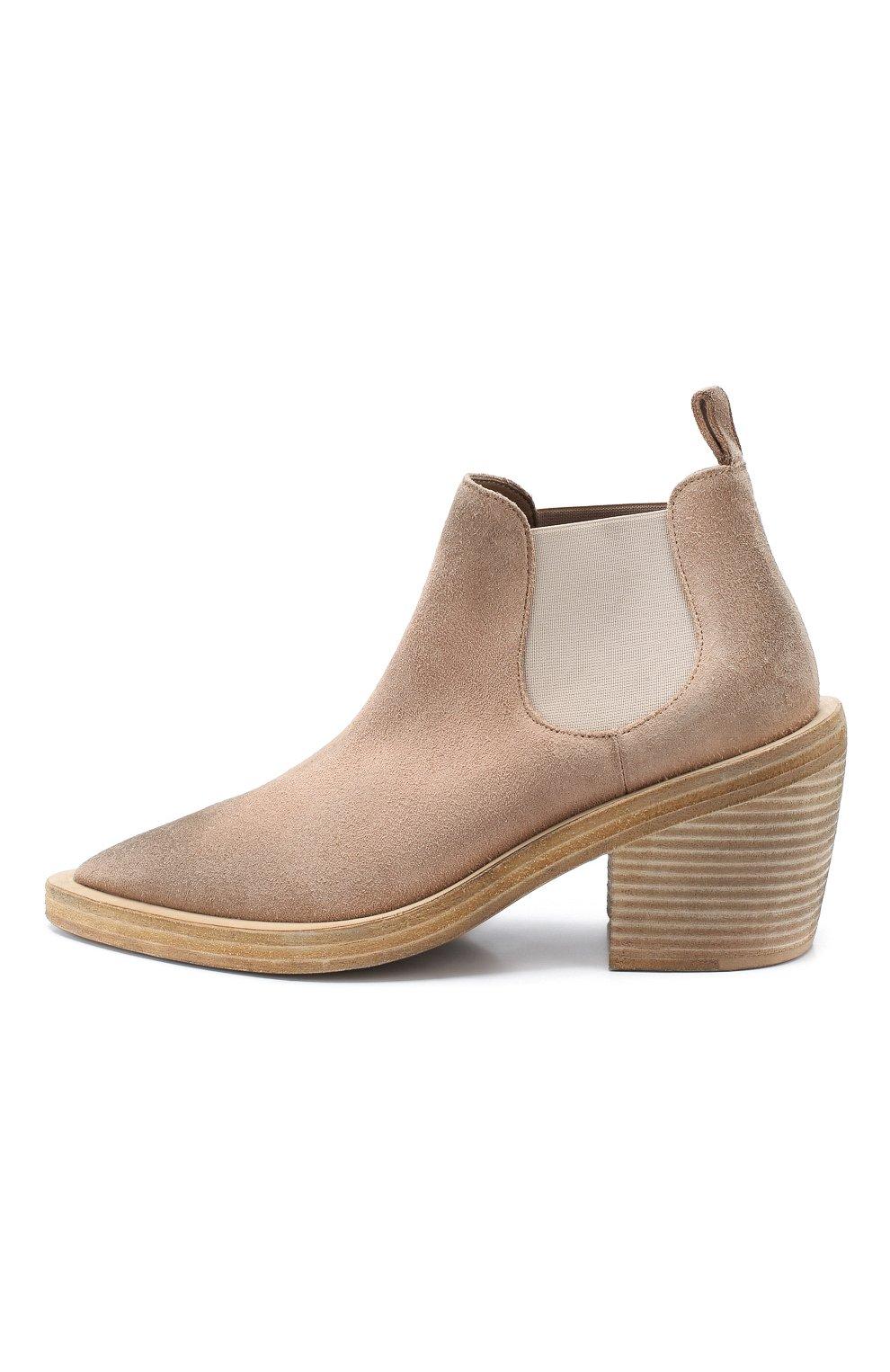 Женские замшевые ботинки MARSELL бежевого цвета, арт. MW5494/CERV0 R0V. | Фото 3