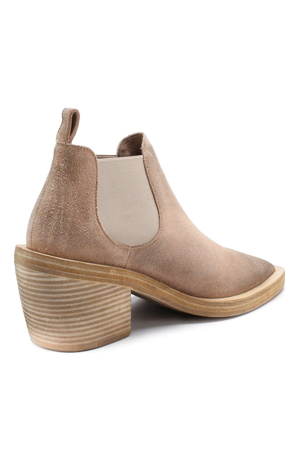 Женские замшевые ботинки MARSELL бежевого цвета, арт. MW5494/CERV0 R0V. | Фото 4