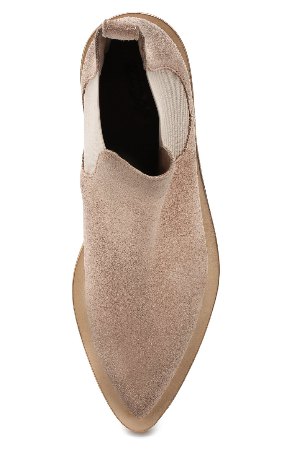 Женские замшевые ботинки MARSELL бежевого цвета, арт. MW5494/CERV0 R0V. | Фото 5