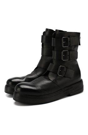 Женские кожаные ботинки MARSELL черного цвета, арт. MW5566/VACCH.V0L0NATA | Фото 1