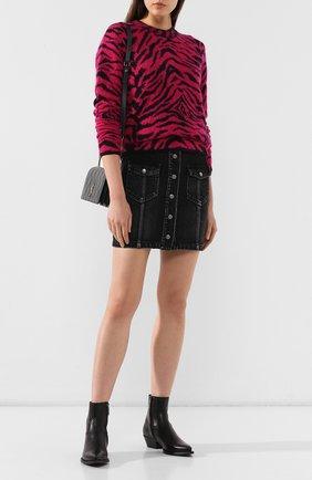 Женские кожаные ботильоны lukas SAINT LAURENT черного цвета, арт. 532860/CY500 | Фото 2