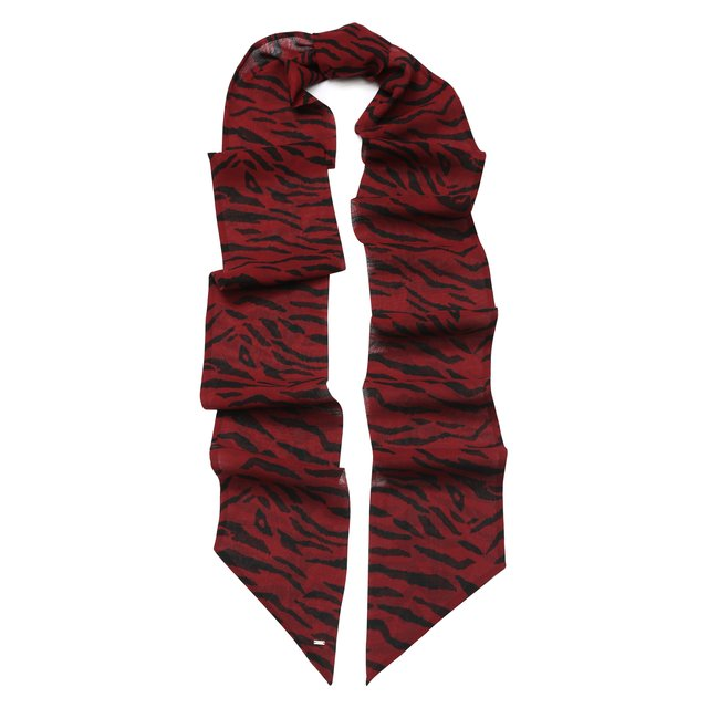 Шелковый шарф-бандо Saint Laurent