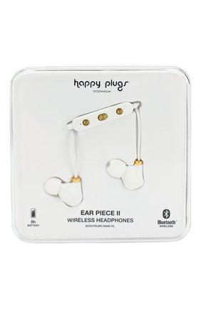 Мужские наушники earbud plus HAPPY PLUGS белого цвета, арт. 7612 | Фото 1
