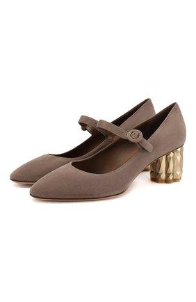 Замшевые туфли Mary Jane | Фото №1