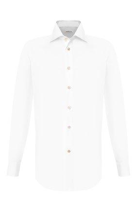Мужская хлопковая сорочка KITON белого цвета, арт. UCID/H003401 | Фото 1