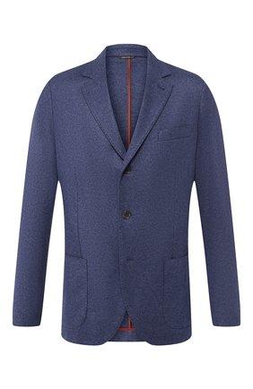 Мужской кашемировый пиджак LORO PIANA синего цвета, арт. FAI2695 | Фото 1