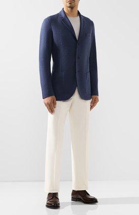 Мужской кашемировый пиджак LORO PIANA синего цвета, арт. FAI2695 | Фото 2
