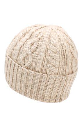 Мужская кашемировая шапка BRUNELLO CUCINELLI кремвого цвета, арт. M2294010 | Фото 2