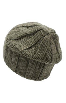 Мужская кашемировая шапка BRUNELLO CUCINELLI хаки цвета, арт. M2294000 | Фото 2