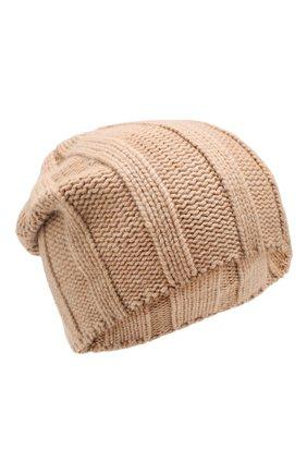 Мужская кашемировая шапка BRUNELLO CUCINELLI бежевого цвета, арт. M2294000 | Фото 1