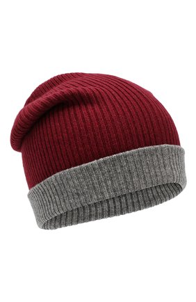 Мужская кашемировая шапка BRUNELLO CUCINELLI бордового цвета, арт. M2293600 | Фото 1