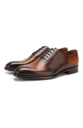 Мужские кожаные оксфорды DOUCAL'S светло-коричневого цвета, арт. DU2489BLANUF159TC00 | Фото 1