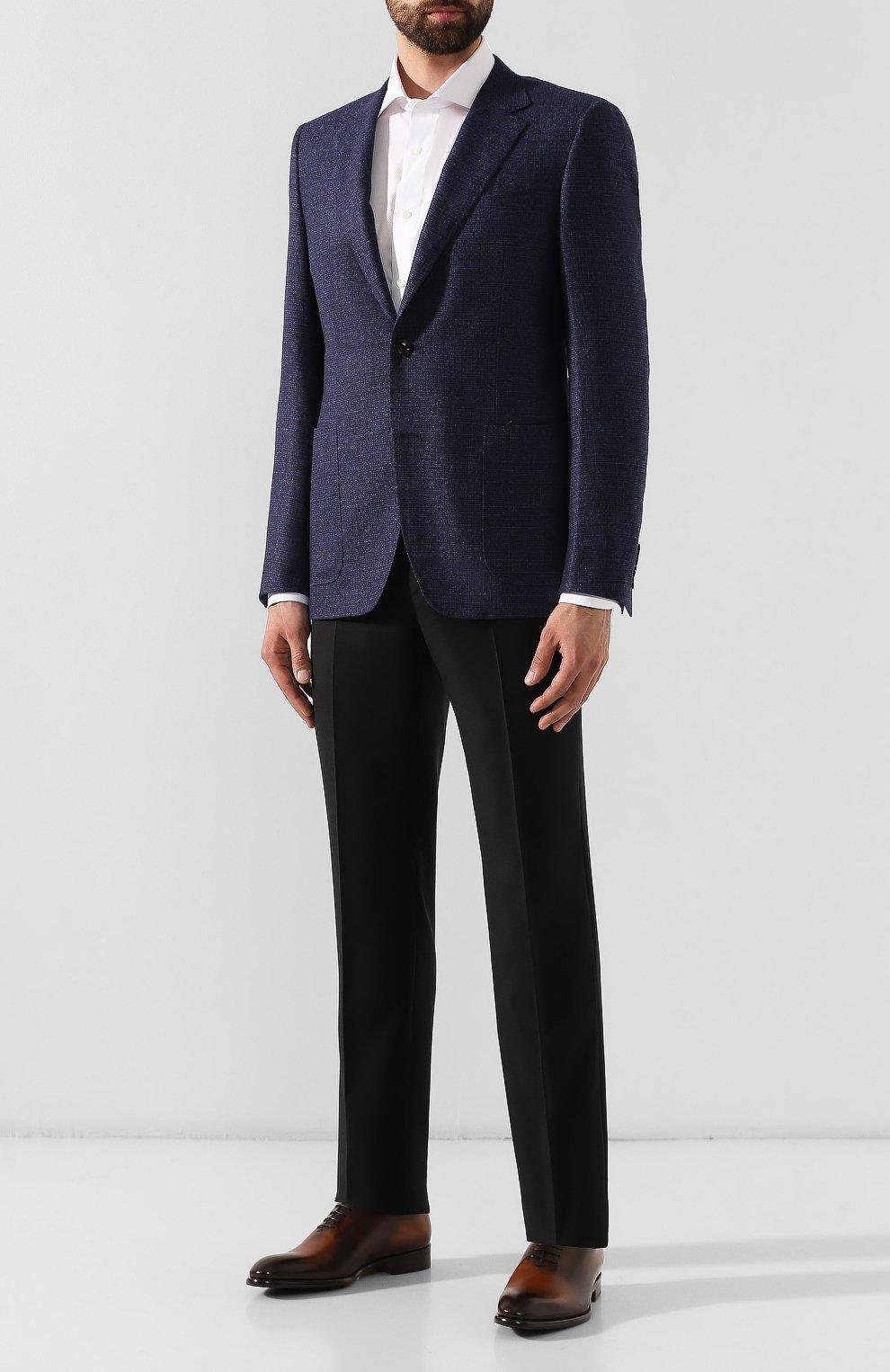 Мужские кожаные оксфорды DOUCAL'S светло-коричневого цвета, арт. DU2489BLANUF159TC00 | Фото 2