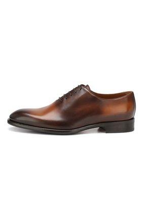 Мужские кожаные оксфорды DOUCAL'S светло-коричневого цвета, арт. DU2489BLANUF159TC00 | Фото 3