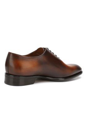 Мужские кожаные оксфорды DOUCAL'S светло-коричневого цвета, арт. DU2489BLANUF159TC00 | Фото 4