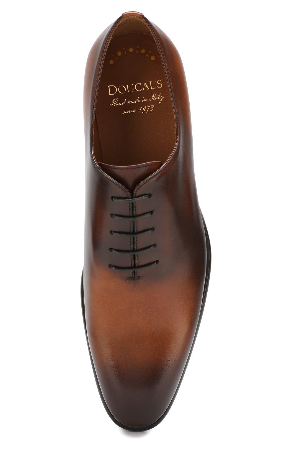Мужские кожаные оксфорды DOUCAL'S светло-коричневого цвета, арт. DU2489BLANUF159TC00 | Фото 5