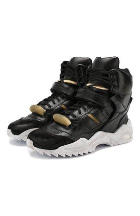 Мужские кожаные кроссовки retro fit MAISON MARGIELA черного цвета, арт. S37WS0463/P2082 | Фото 1