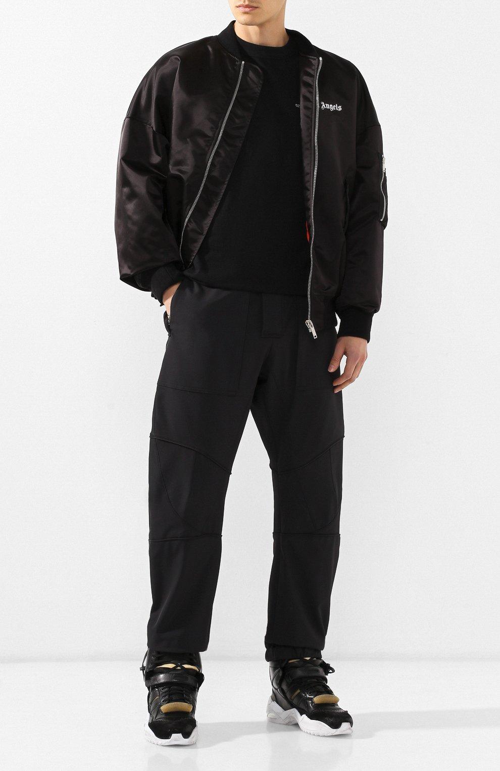 Мужские кожаные кроссовки retro fit MAISON MARGIELA черного цвета, арт. S37WS0463/P2082   Фото 2