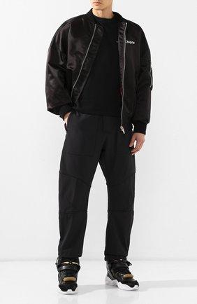 Мужские кожаные кроссовки retro fit MAISON MARGIELA черного цвета, арт. S37WS0463/P2082 | Фото 2