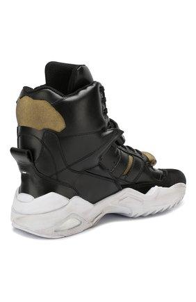 Мужские кожаные кроссовки retro fit MAISON MARGIELA черного цвета, арт. S37WS0463/P2082   Фото 4