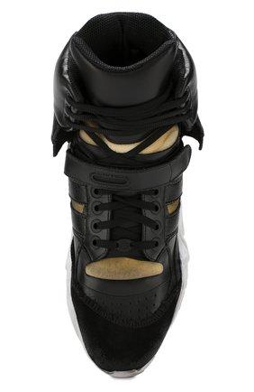 Мужские кожаные кроссовки retro fit MAISON MARGIELA черного цвета, арт. S37WS0463/P2082   Фото 5