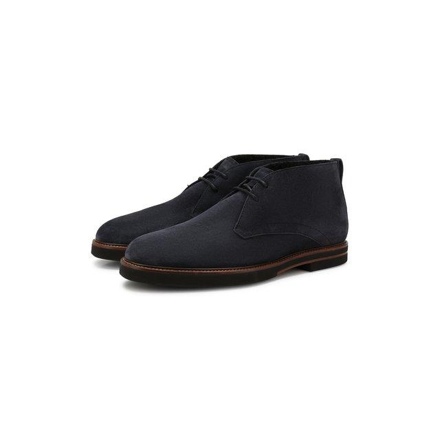 Замшевые ботинки Tod's