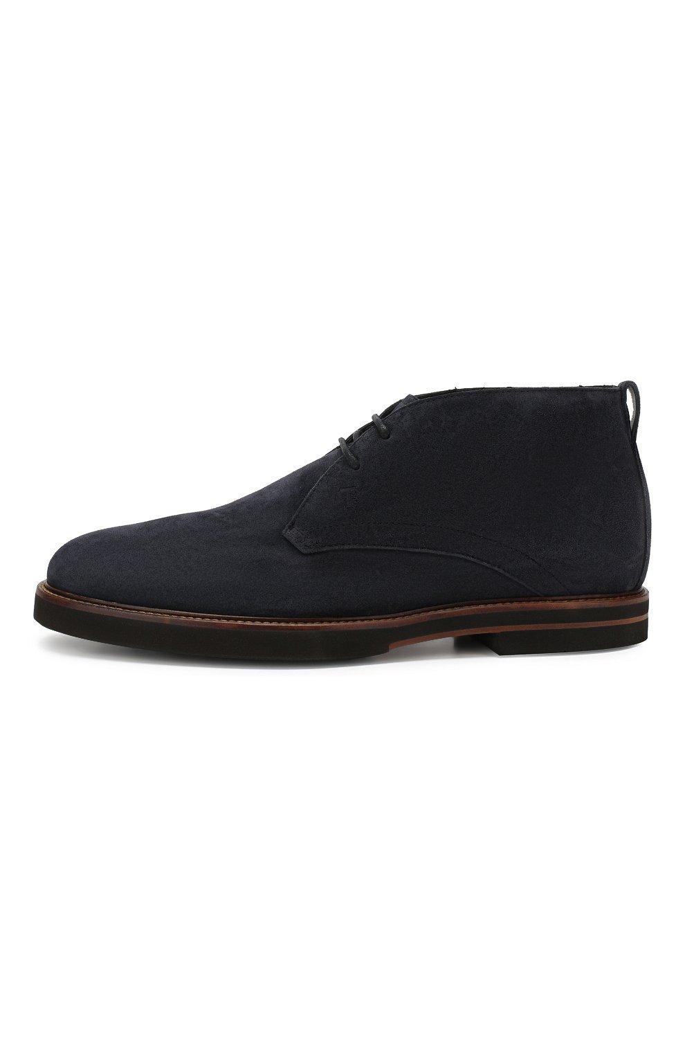Мужские замшевые ботинки TOD'S темно-синего цвета, арт. XXM53B00D81RE0 | Фото 3