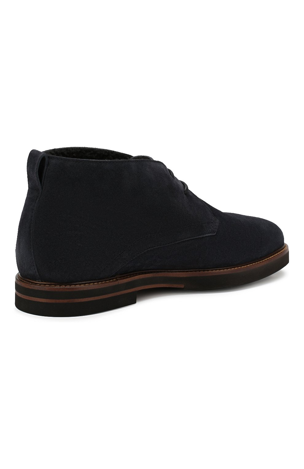 Мужские замшевые ботинки TOD'S темно-синего цвета, арт. XXM53B00D81RE0 | Фото 4