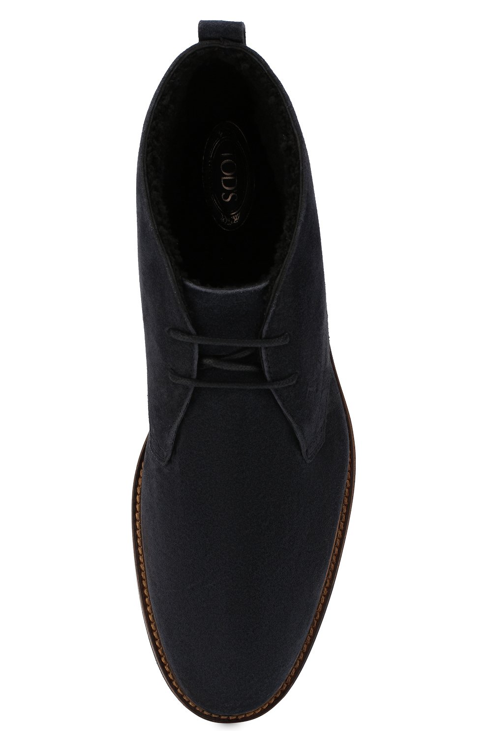 Мужские замшевые ботинки TOD'S темно-синего цвета, арт. XXM53B00D81RE0 | Фото 5