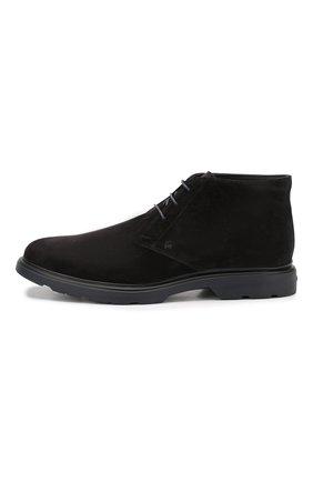 Замшевые ботинки Hogan черные | Фото №3