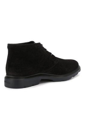 Замшевые ботинки Hogan черные | Фото №4