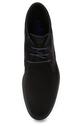Замшевые ботинки Hogan черные | Фото №5