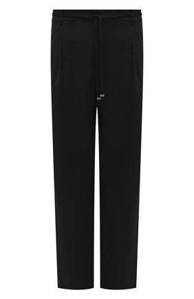Мужской шерстяные брюки SAINT LAURENT черного цвета, арт. 583275/Y903V | Фото 1
