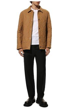 Мужской шерстяные брюки SAINT LAURENT черного цвета, арт. 583275/Y903V | Фото 2