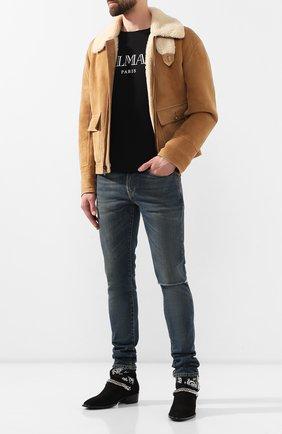 Мужские джинсы SAINT LAURENT темно-синего цвета, арт. 587035/YD964 | Фото 2