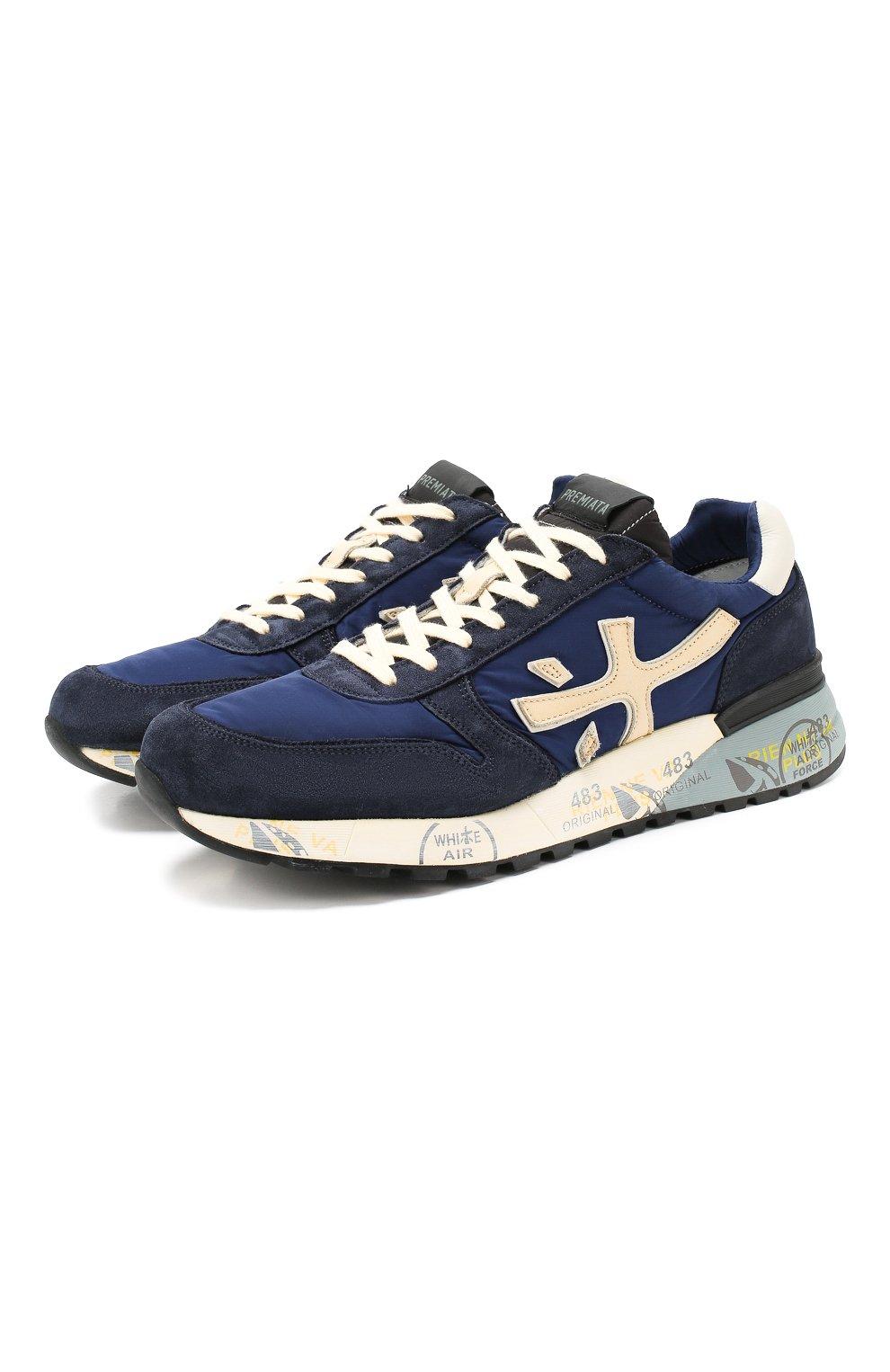 Мужские замшевые кроссовки mick PREMIATA темно-синего цвета, арт. MICK/VAR4020 | Фото 1