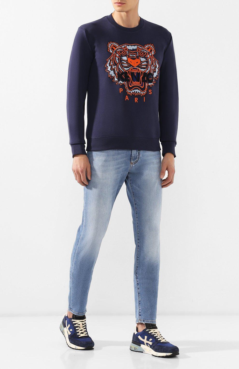Мужские замшевые кроссовки mick PREMIATA темно-синего цвета, арт. MICK/VAR4020 | Фото 2