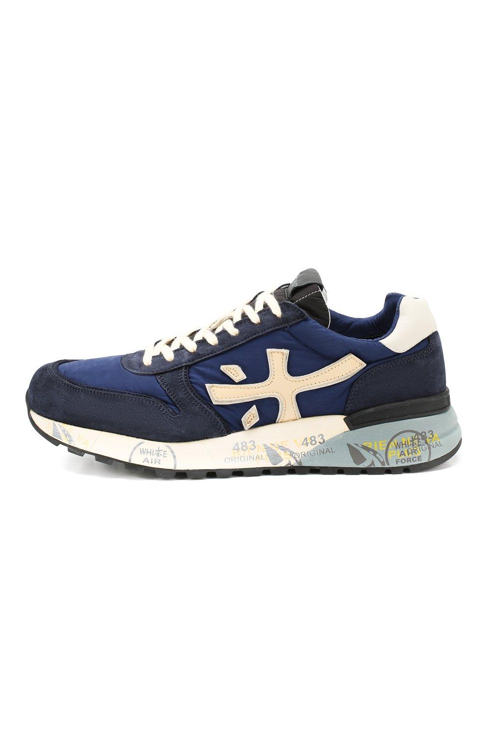 Мужские замшевые кроссовки mick PREMIATA темно-синего цвета, арт. MICK/VAR4020 | Фото 3