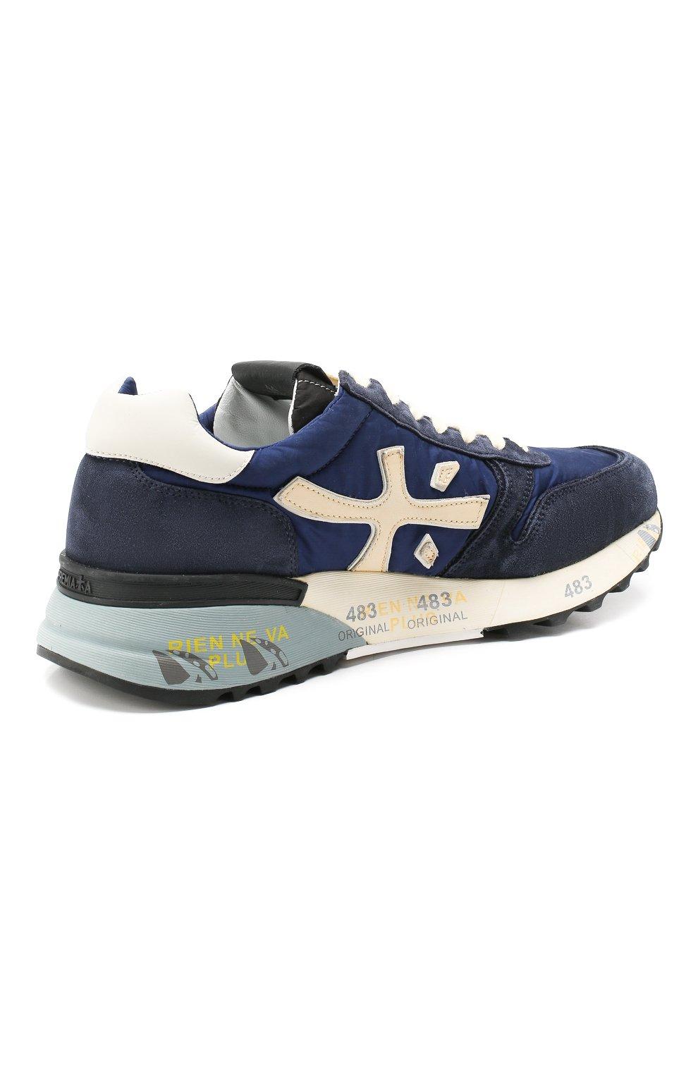 Мужские замшевые кроссовки mick PREMIATA темно-синего цвета, арт. MICK/VAR4020 | Фото 4