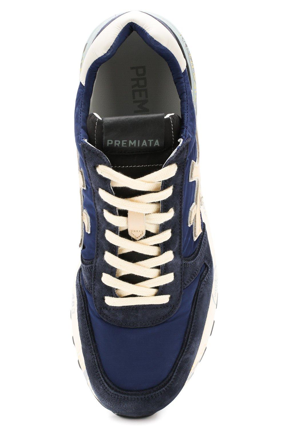 Мужские замшевые кроссовки mick PREMIATA темно-синего цвета, арт. MICK/VAR4020 | Фото 5